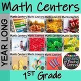 Year Long Math Centers First Grade Bundle