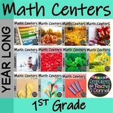 Year Long Math Centers First Grade Bundle