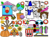 Year Long Seasonal Clipart BUNDLE {200+ clips} (Personal &
