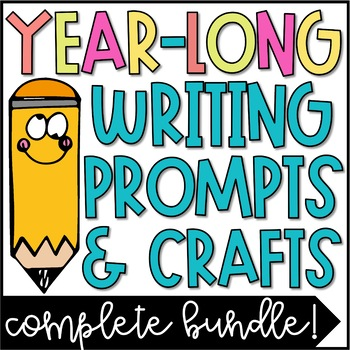 Year Long Seasonal Writing Prompts & Craftivities Bundle