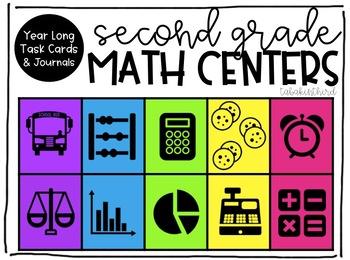 Year Long Second Grade Math Centers