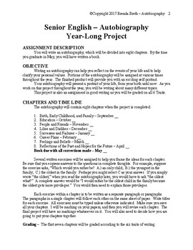 Year-Long Senior Autobiography Project
