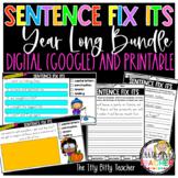 Year Long Sentence Fix Its Bundle Digital (Google Classroo