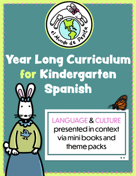 Year Long Spanish Curriculum Pack for Elementary School Printable Resources