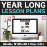 Year Long Speech Therapy Interactive PDF Lesson Plans for