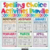 Spelling Choice Activities for Any List of Words Year Long