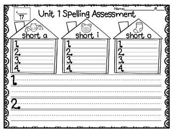 Year Long Spelling Assessment