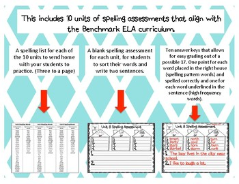 Year Long  First Grade Spelling Assessment