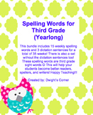Year Long Spelling Lists (Third Grade)