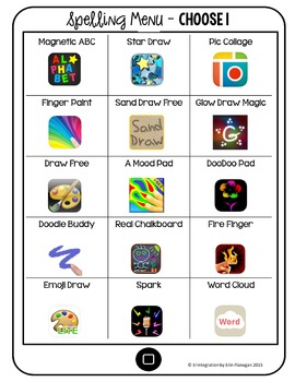 Spelling Activities and Word Work Centers for the iPad