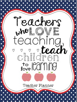 Year Long Teacher Planner