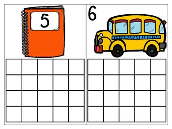 Year Long Ten Frame Cards (BUNDLE) and worksheet