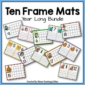 Year Long Ten Frame Mats Bundle
