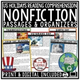 U.S. Holidays Nonfiction Reading Comprehension Passages & Questions 3rd Grade