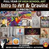*Intro to Visual Art and Drawing - Year long Visual Art Cu