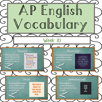 Year Long Vocabulary Lessons BUNDLE 1-10