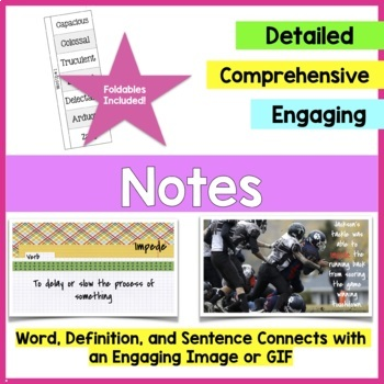 Year Long Vocabulary Unit Study for Middle School {L.6}