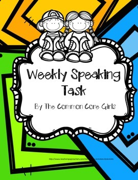 Speaking Task-Year Long Set of Weekly Project-Gr 2-5~Perfect Homework Assignment