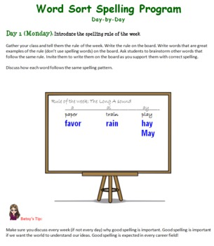 Year-Long Word Sort Spelling Lesson Plans: 4th Grade