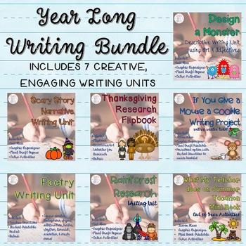 Year Long Writing Unit Bundle