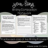 Year Long Writing Composition Homework