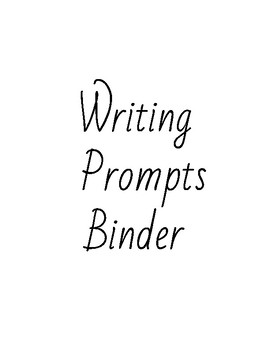 Year Long Writing Prompts.