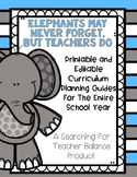 Monthly All Subject and ELA Planning Guides {Editable and PDF Versions}