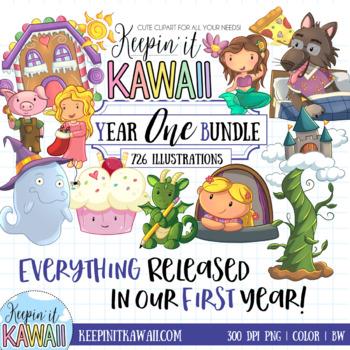 Year ONE Clip Art Bundle - Keepin' It Kawaii