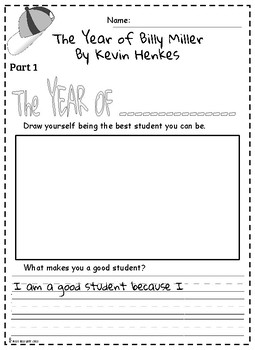 Year Of Billy Miller Comprehension and Writing Activities