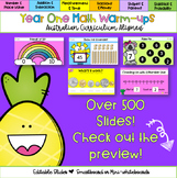 Editable Year One Australian Curriculum Aligned Math Warm-ups