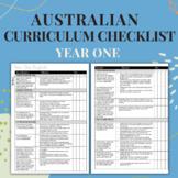 Year One - Australian Curriculum Checklist