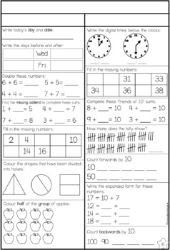 Year One Daily Maths Revision Book 2