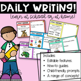 Year One Daily Writing Prompts Set 1 | Distance Learning |