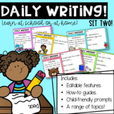 Year One Daily Writing Prompts: Set 2   Distance Learning  Australian Curriculum
