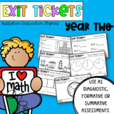 Year Two Math Exit Tickets - Australian Curriculum Aligned