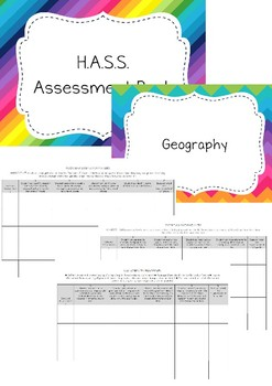 Year One HASS Assessment Book