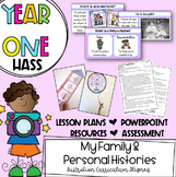 Year One HASS - My Family & Personal Histories *Australian Curriculum Aligned*