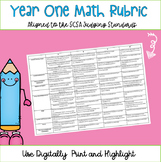 Year One Math Marking Rubric