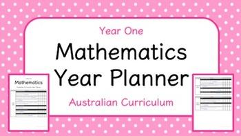 Year One - Mathematics Year Planner (Australian Curriculum)