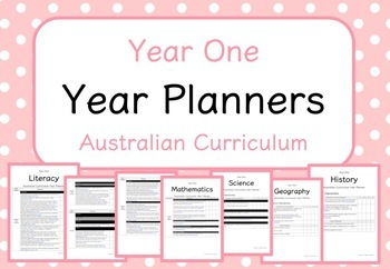 Year One - Year Planners BUNDLE! (Australian Curriculum)