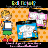 Year One & Two Math Exit Tickets - Australian Curriculum D