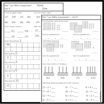 Year One and Two Assessments