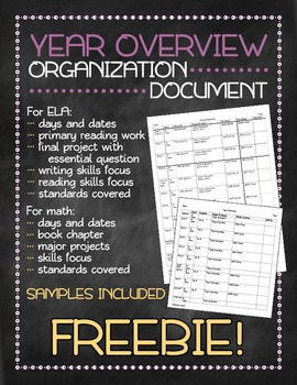 Year Overview organization document