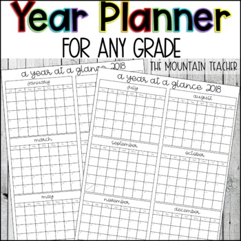 Year Planner 2018-2019