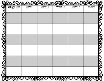 Year Planner/ Curriculum Map