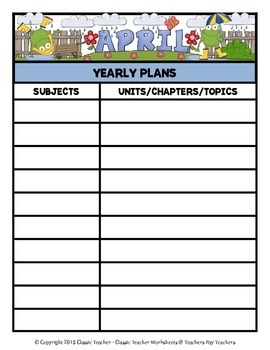Year Plans - Yearly Plans Using Monthly Templates - Cute Clip Art