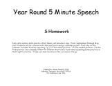 Year Round 5 minute /S/ Articulation Practice