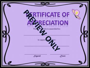 Year Round Awards Certificates