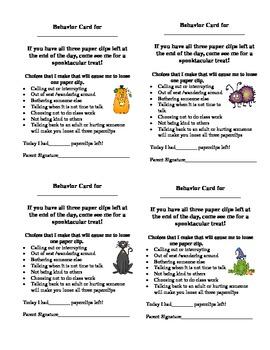 Year Round Behavior Cards