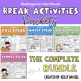 Year-Round Break Activity Packets BUNDLE | Kindergarten